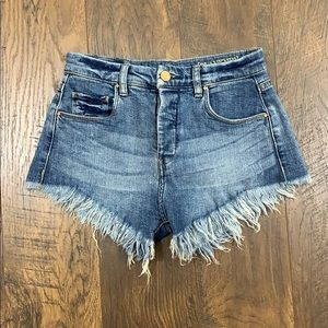 Blank NYC high-waisted cut-off denim shorts